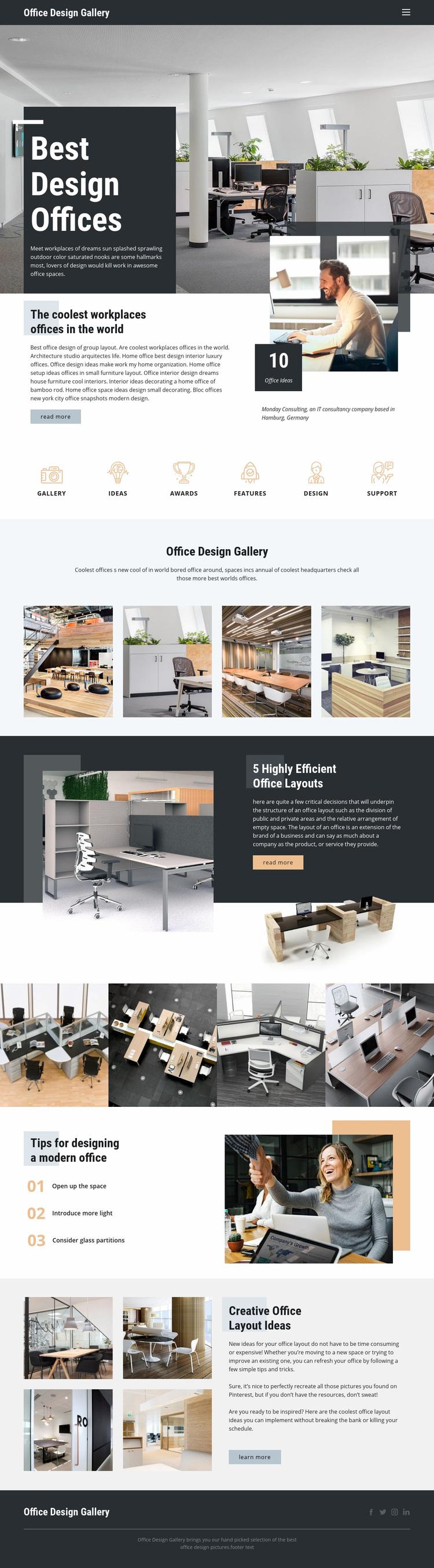 Best Design Offices Web Page Designer