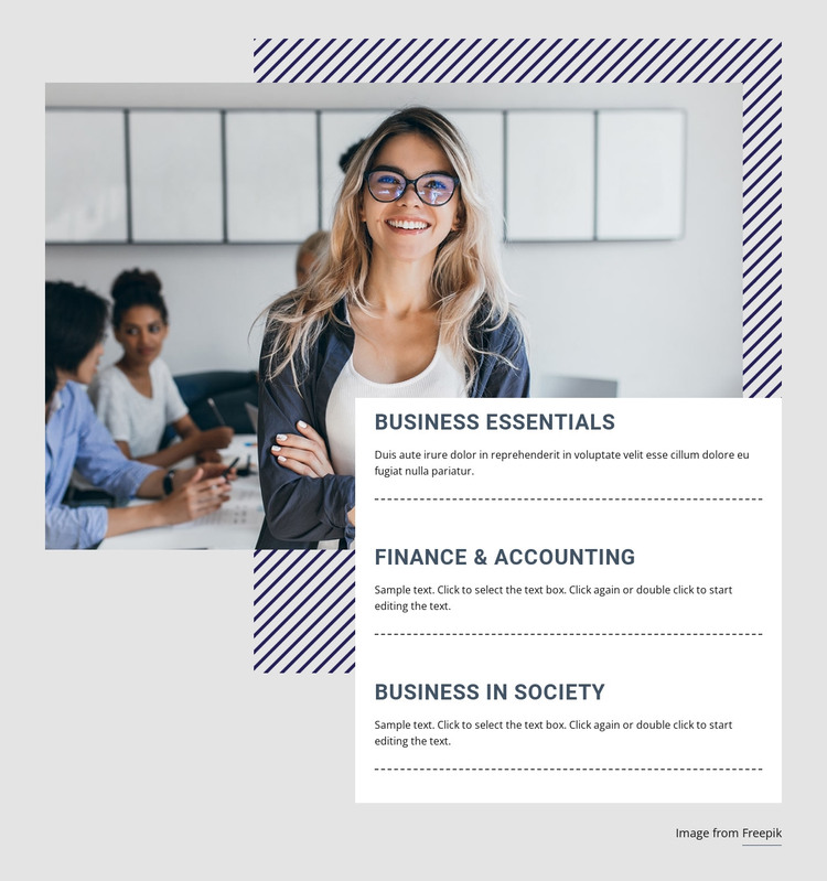 Finance courses HTML Template