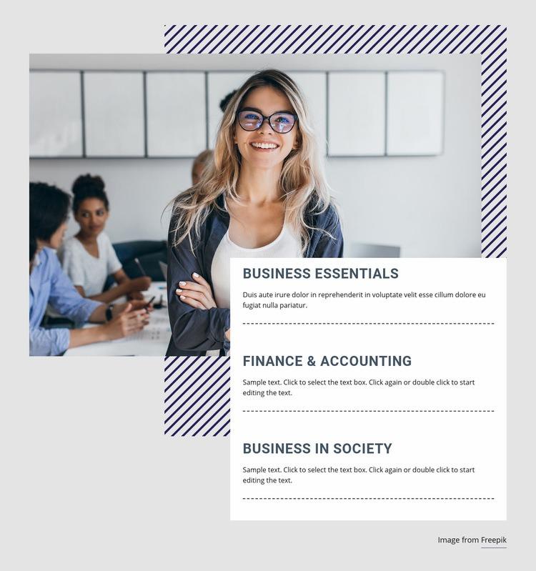 Finance courses Web Page Designer