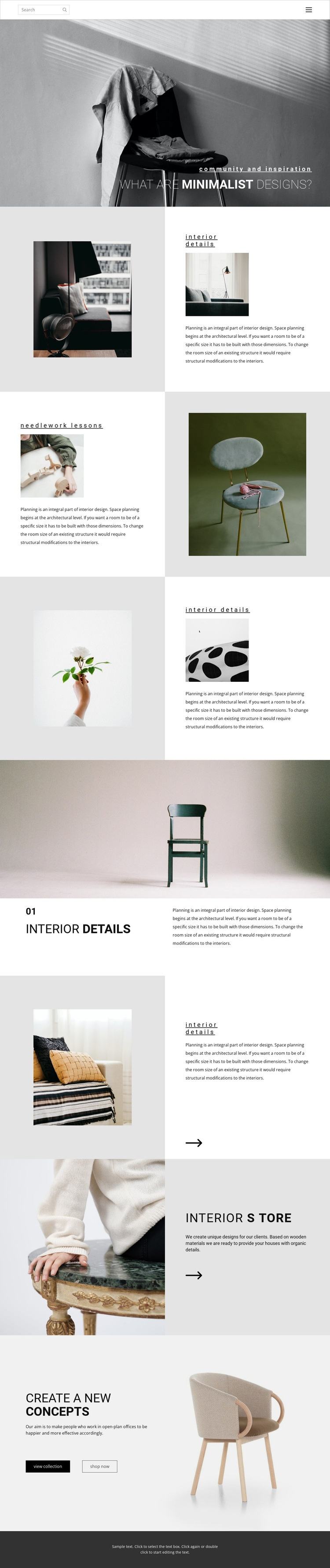 Make your home special Homepage Design
