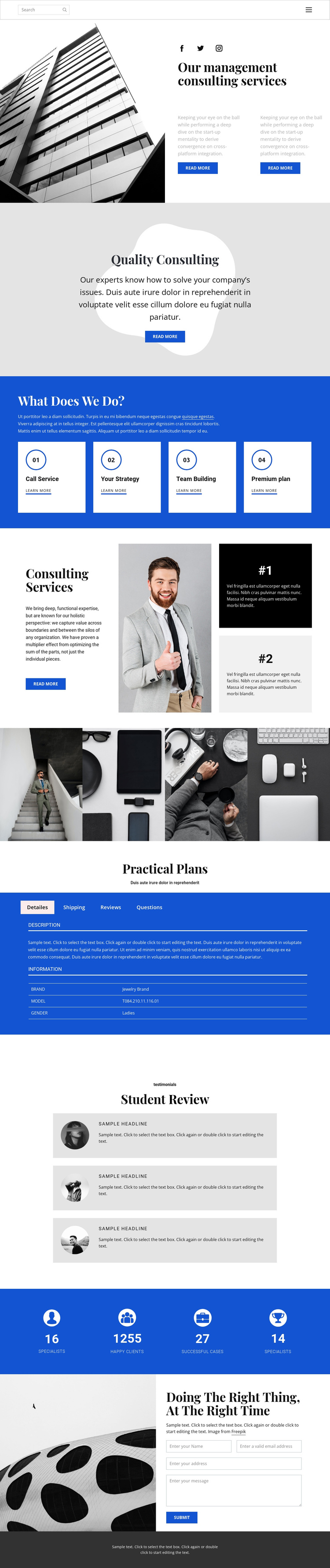 We develop and help you One Page Template