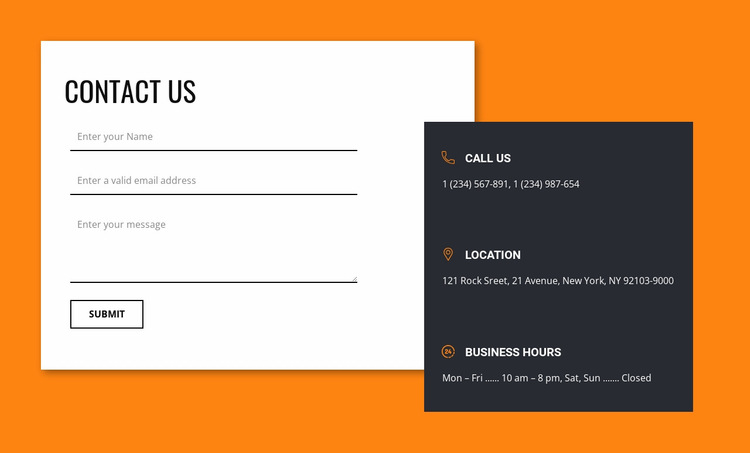 Connecting with us Website Builder