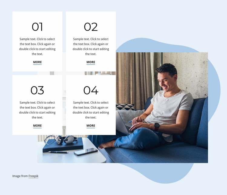Reach your personal goals Website Mockup