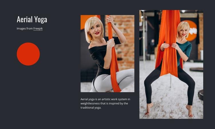 Antigravity yoga Web Page Design