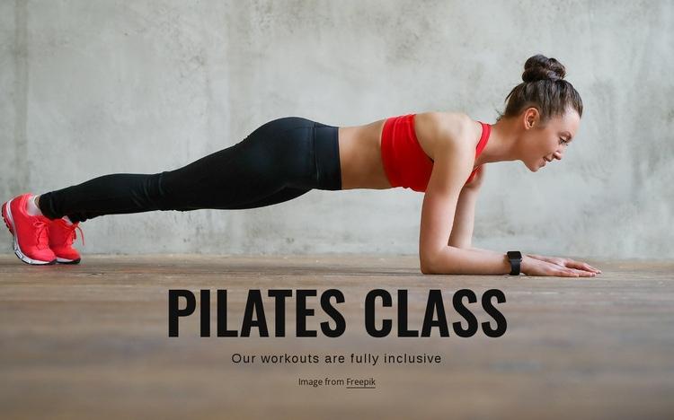Pilates class Web Page Design