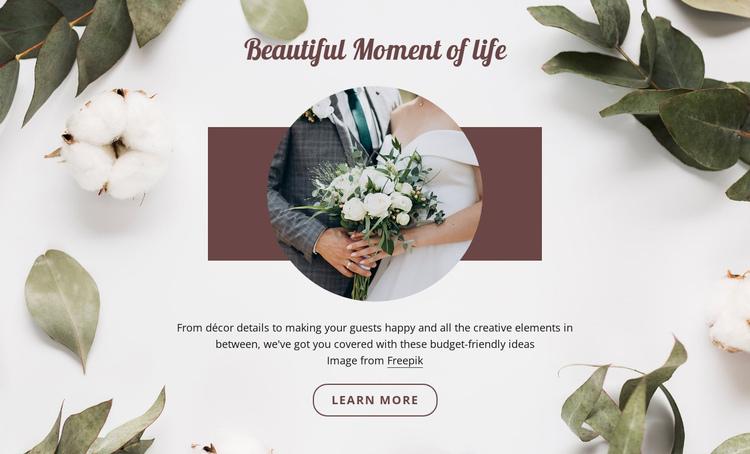 Beautiful moment of life Website Builder Software