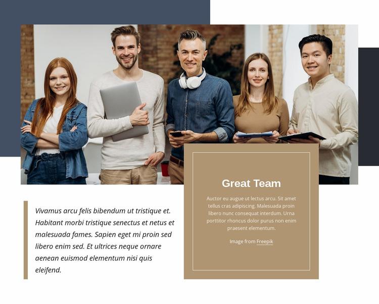 Great team Website Design