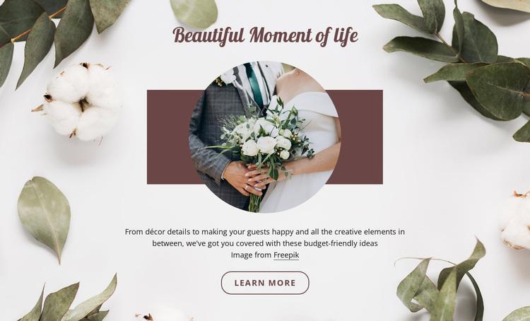 Beautiful moment of life Website Design