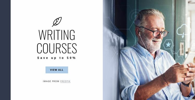 Writing courses Website Mockup