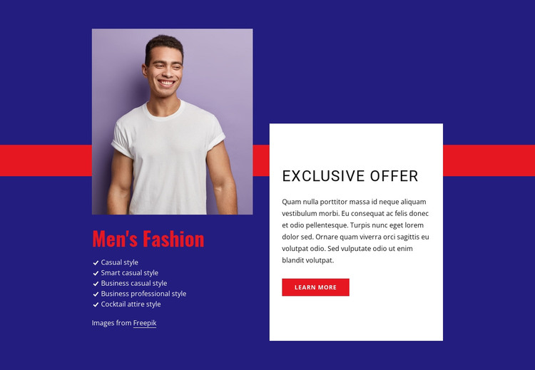 Exclusive offer HTML Template