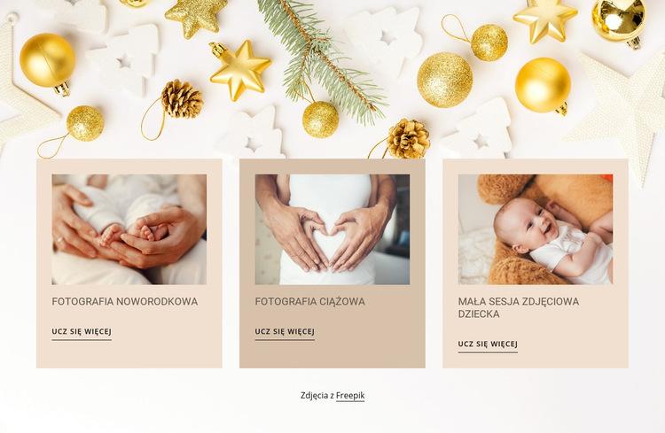 Fotografia noworodkowa i niemowlęca Szablon witryny sieci Web