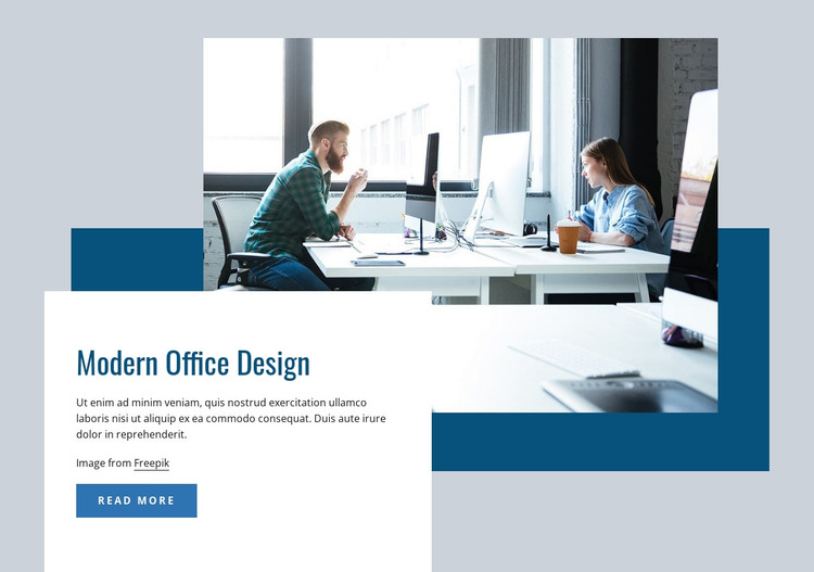 Modern office interior Web Design