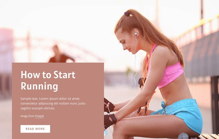 How to start running Web Page Design