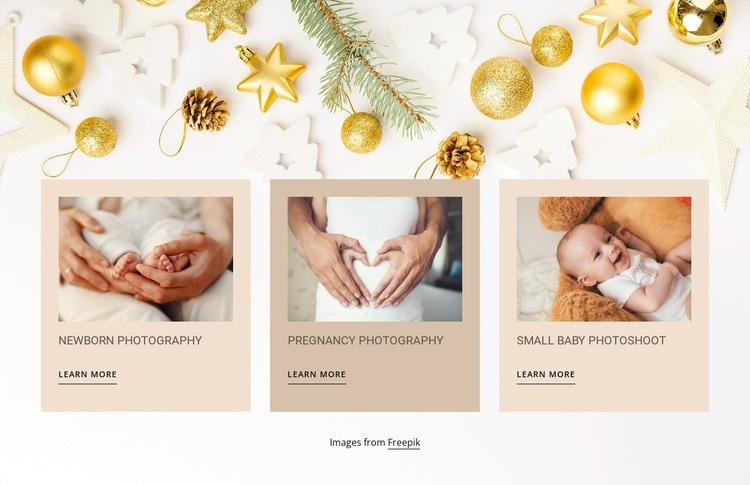 Newborn and baby photography Web Page Designer