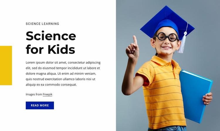 Science for kids course Website Mockup