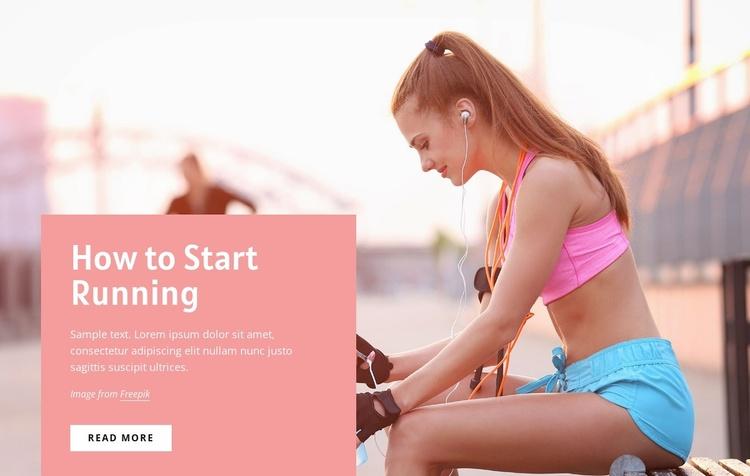 How to start running Website Template