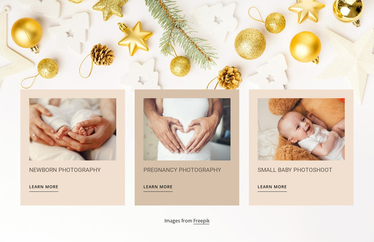 Newborn and baby photography WordPress Website Builder