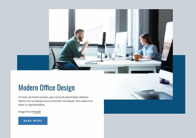 Modern office interior WordPress Website Builder