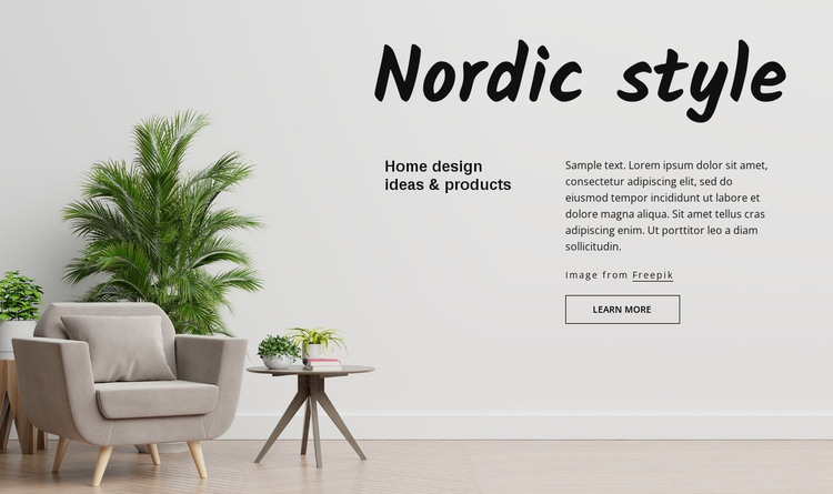 Nordic style HTML Template
