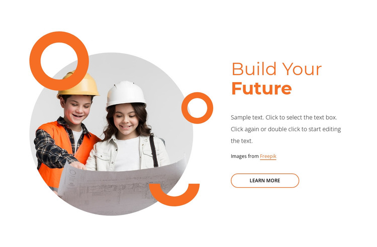 Future-proof your child's learning HTML Template