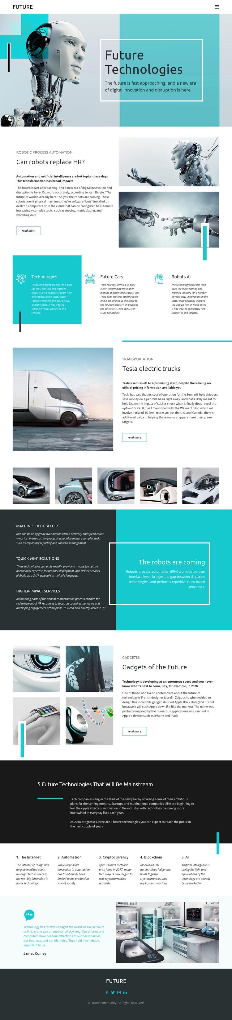 Future technology HTML5 Template