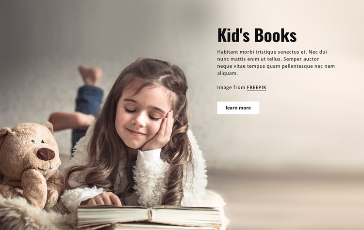 Books for Kids One Page Template