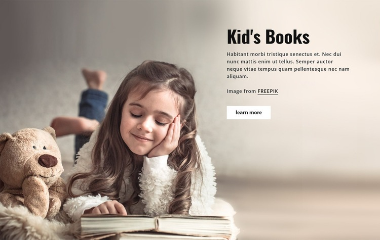 Books for Kids Web Page Design