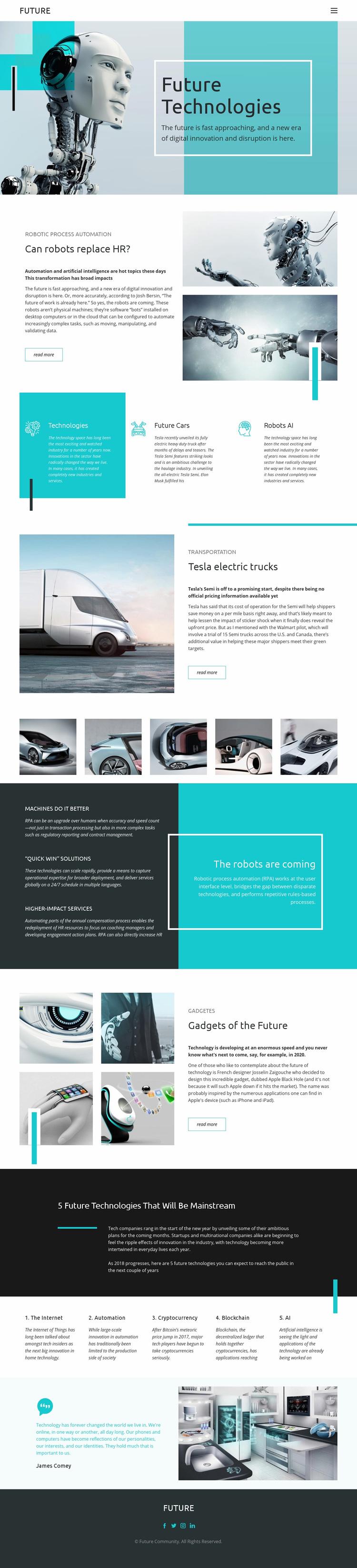 Future technology Web Page Designer
