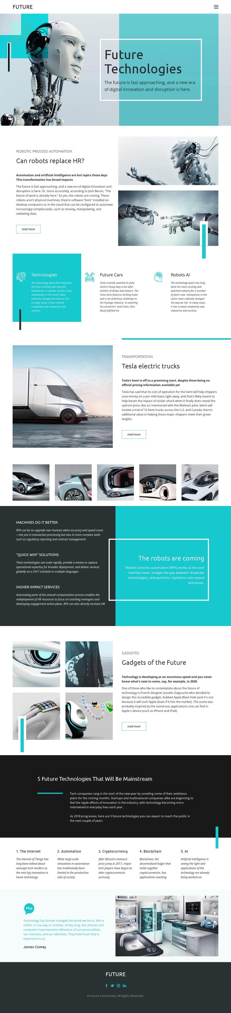 Future technology Website Builder Software