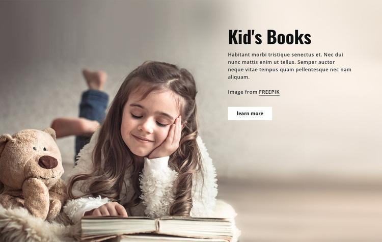 Books for Kids Website Design