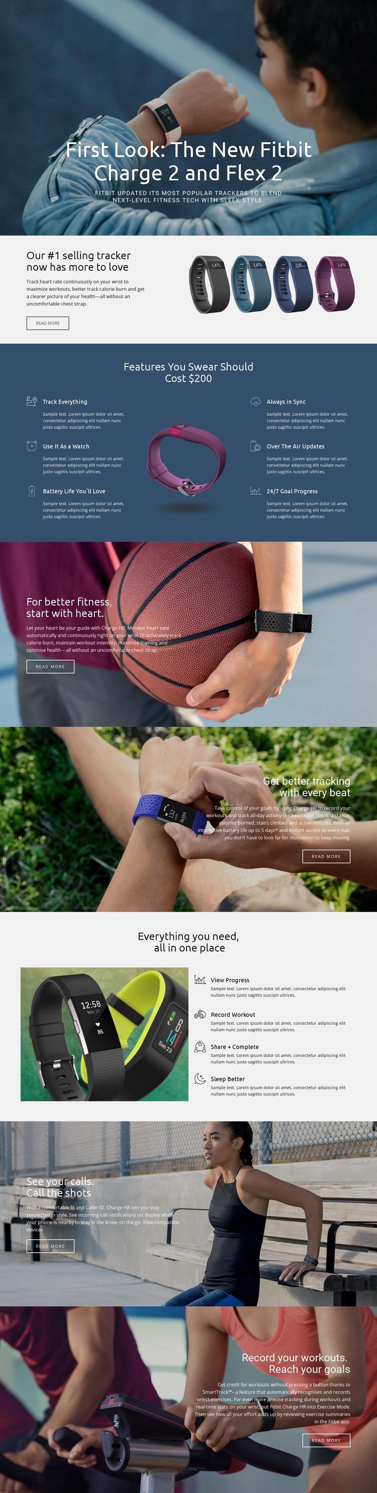 Flex 2 Website Mockup
