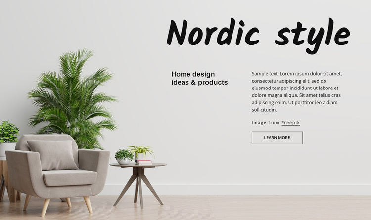 Nordic style Website Template