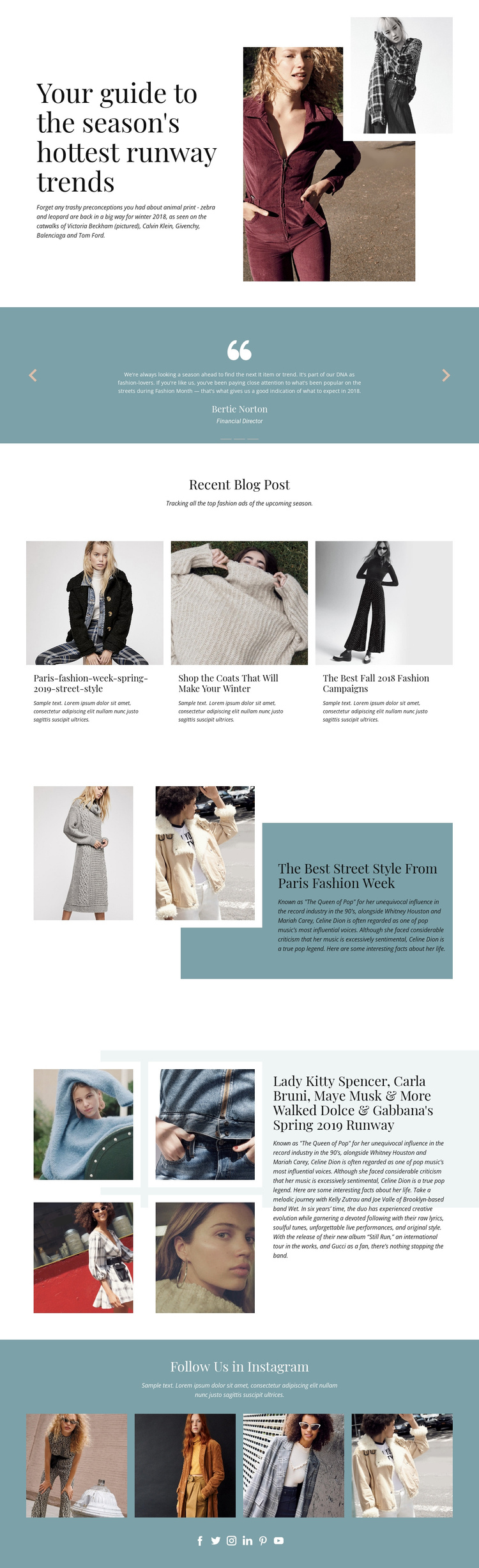 Free people One Page Template