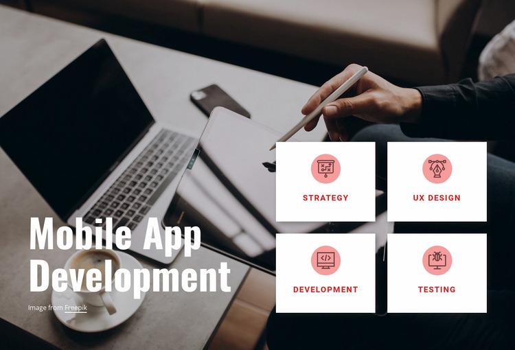 Make your app launch a success Website Mockup