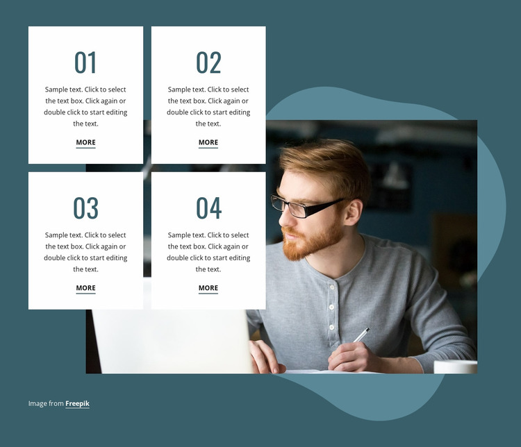 Benefits of writing in daily life Website Mockup