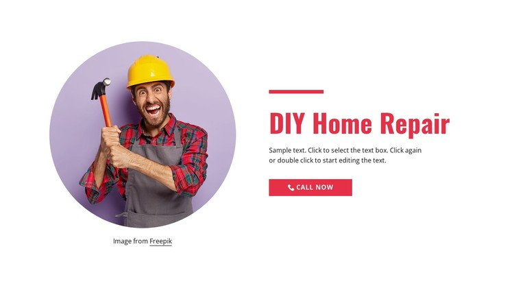 Step-by-step home repair CSS Template