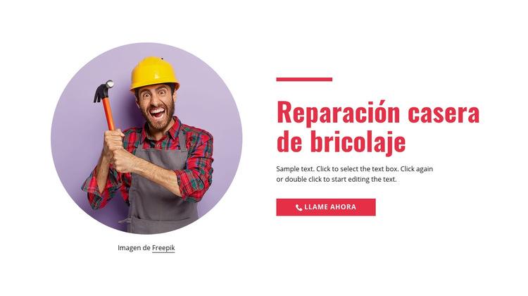 Reparación del hogar paso a paso Plantilla de sitio web