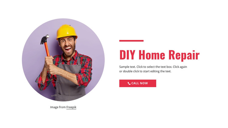 Step-by-step home repair HTML Template