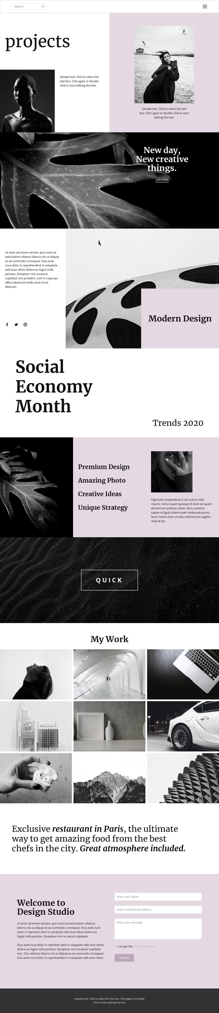 Stand out from others HTML Template