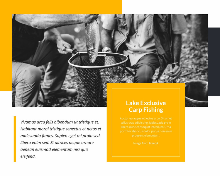 Camp fishing Html Website Builder