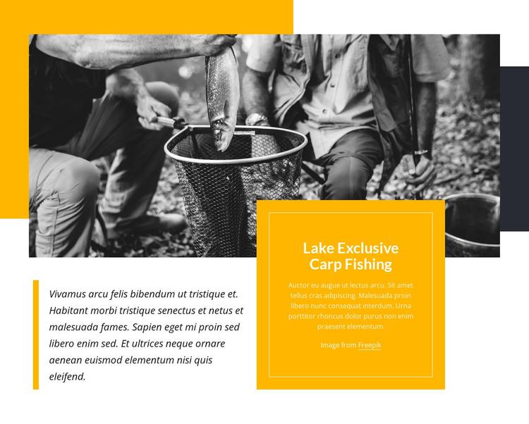 Camp fishing Joomla Template