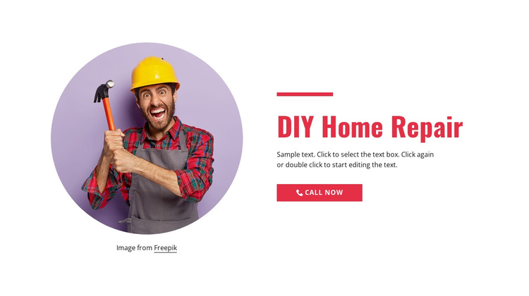 Step-by-step home repair One Page Template