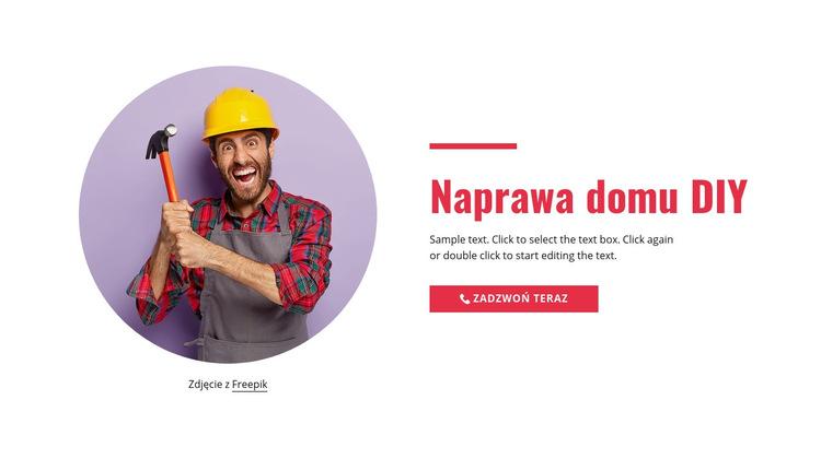 Naprawa domu krok po kroku Szablon witryny sieci Web