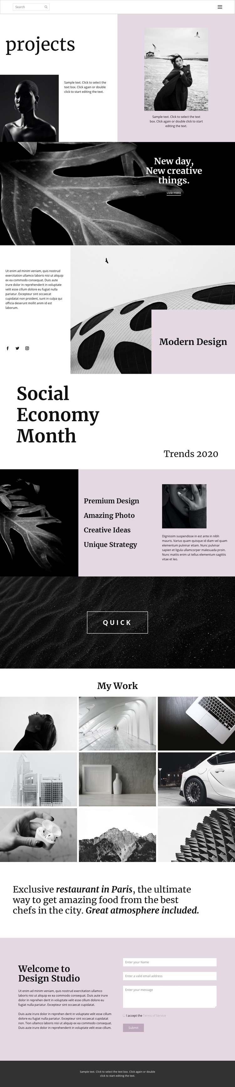 Stand out from others Web Page Design