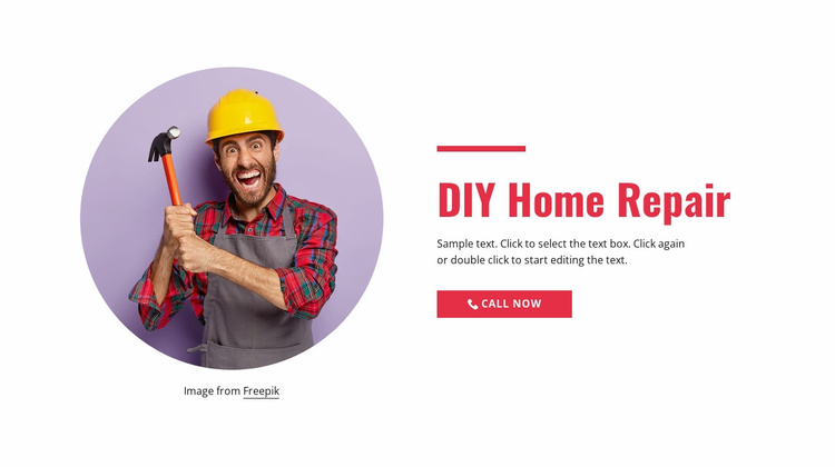 Step-by-step home repair Landing Page