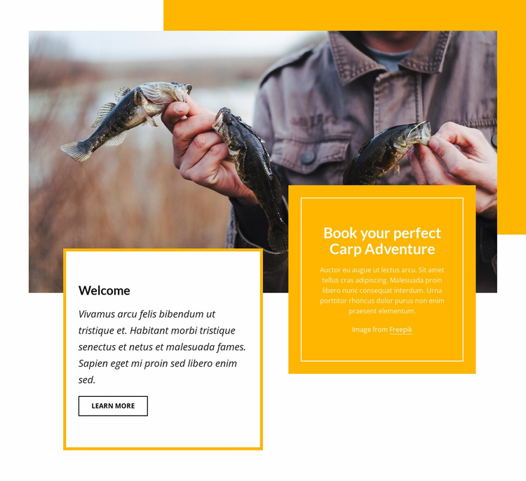 Book your adventure Landing Page