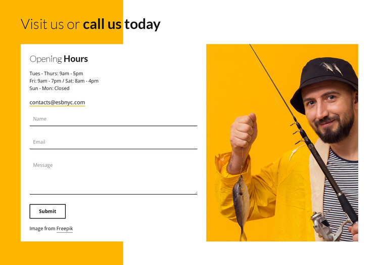 Visit our camp today HTML Template