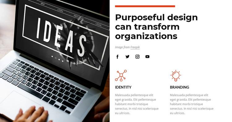 Purposeful design HTML Template