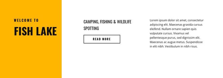 Fish lake HTML Template
