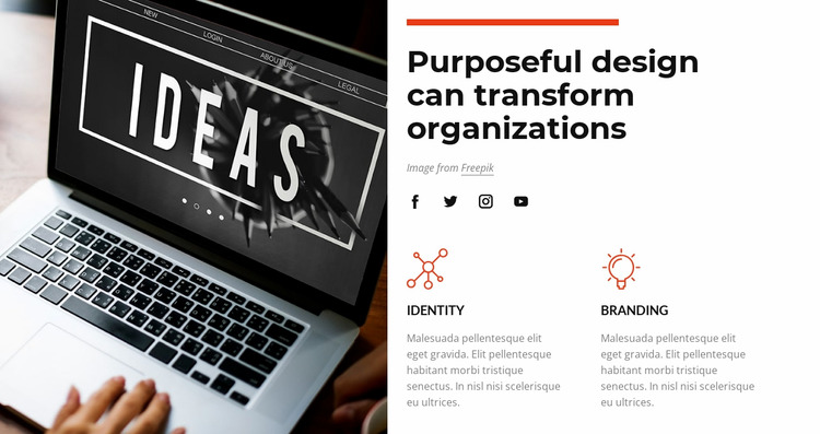 Purposeful design Html Website Builder